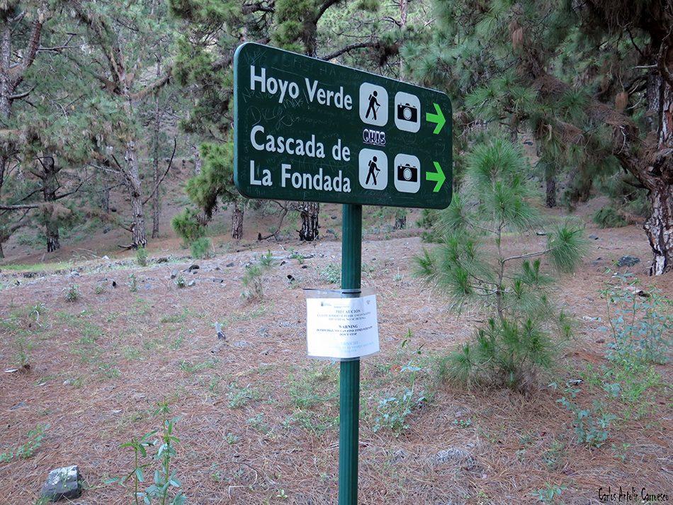 Cascada de La Fondada - Hoyo Verde - La Palma