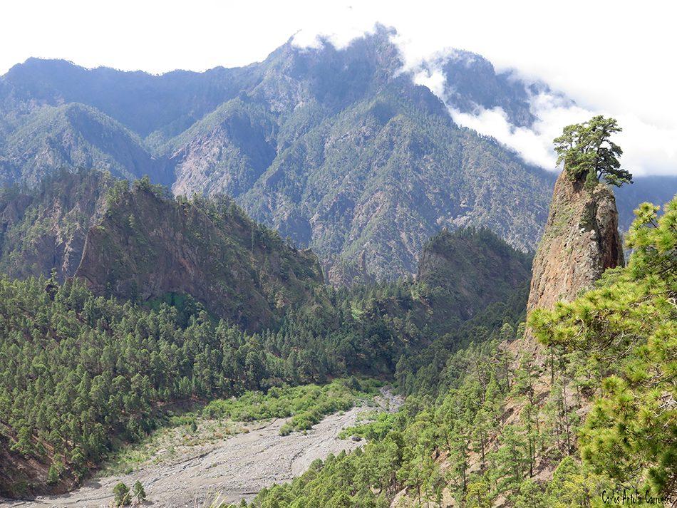 Parque Nacional de La Caldera de Taburiente - La Palma - Roque del Huso - Playa de Taburiente