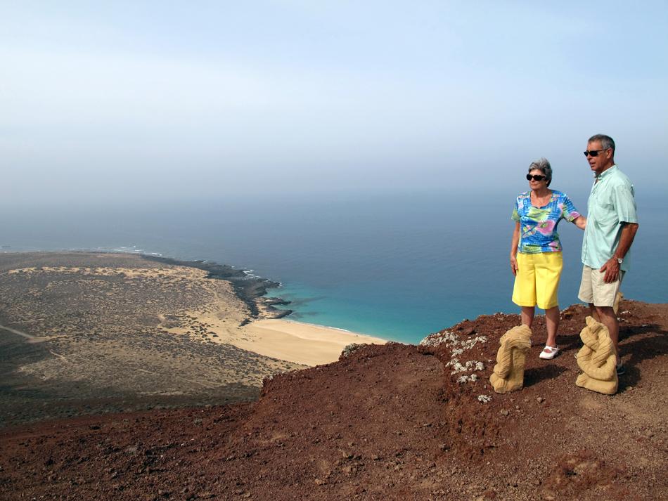 Montaña Bermeja (160 metros) - La Graciosa - Lanzarote - Playa de Las Conchas