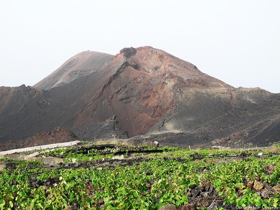 Volcán Teneguía - viñedos - La Palma - gr131 - ruta del bastón
