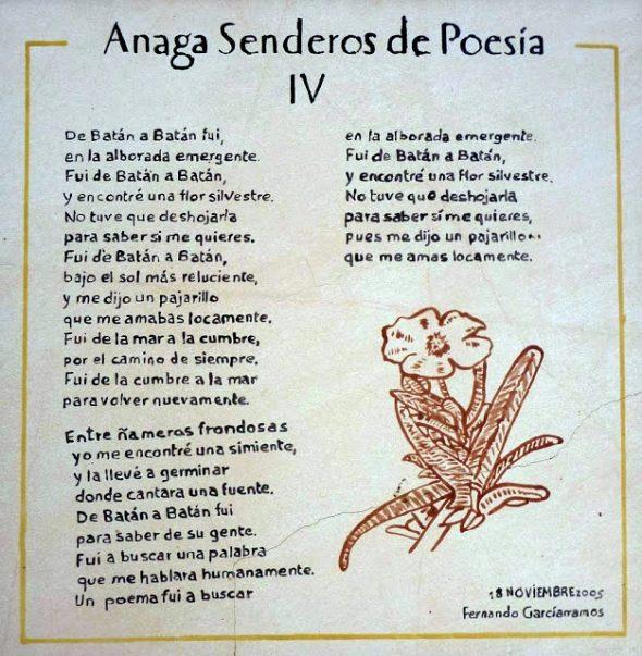 Anaga Senderos de Poesía IV - Los Batanes - Península de Anaga