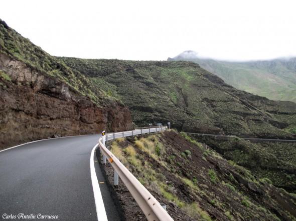 Playa de Guayedra - Agaete - Gran Canaria - carretera GC200