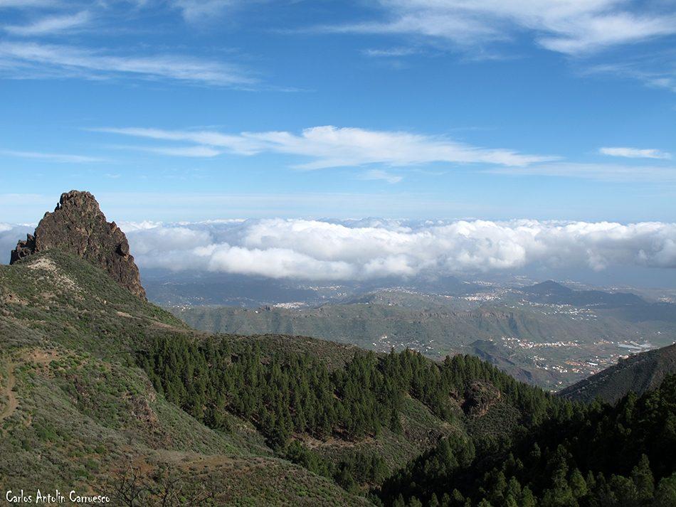 La Caldera de Los Marteles - Guayadeque - Gran Canaria - roque grande