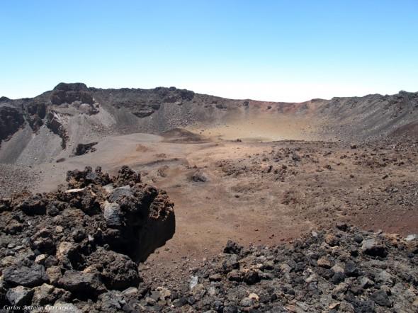 cráter de Pico Viejo - 800 metros de diametro - P.N. del Teide