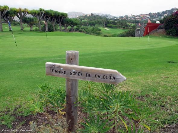 Caldera de Bandama - Gran Canaria - golf bandama - Camino Borde de Caldera