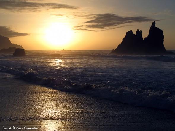 playa de Benijo - Anaga - Tenerife<br/>puesta de sol