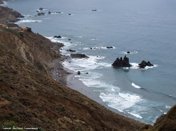 Anaga - pista al Draguillo - Tenerife - Benijo - Roques y Playa de Benijo