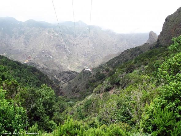 La Cumbrecilla (607 metros) - Anaga - Tenerife<br/>Afur en el valle