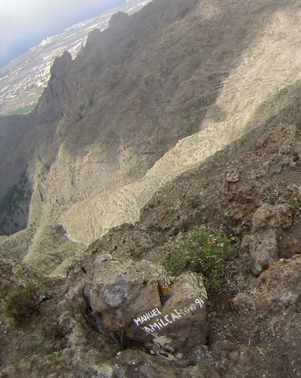 grafiti en Roque Imoque