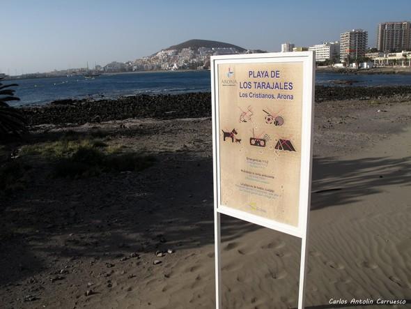 Los Cristianos - Tenerife - playa de los tarajales