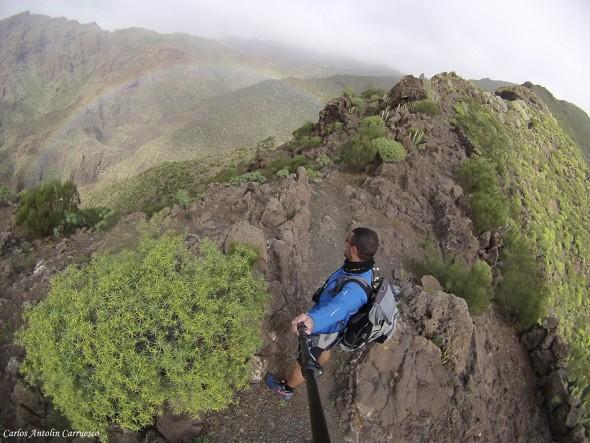 Risco Blanco - arco iris - Teno - Tenerife