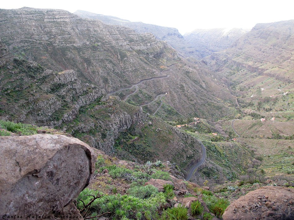 GR131 - barranco de Erque - La Gomera