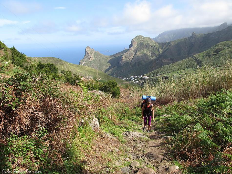 Sendero Las Vueltas - Taganana - Tenerife - Roque de Las Ánimas - Roque de Enmedio