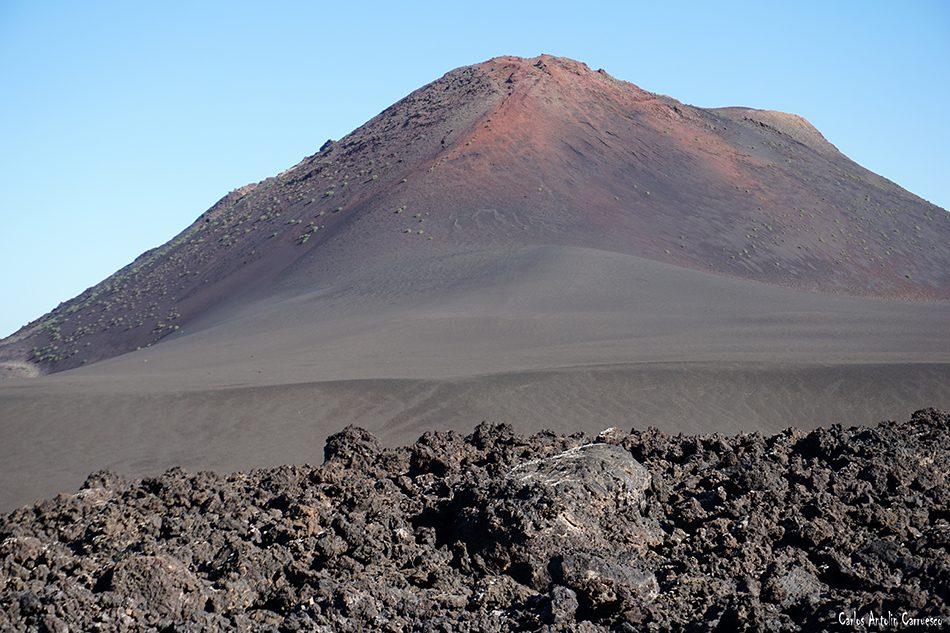 Ruta Termesana - Timanfaya - Lanzarote - montaña rajada - tremesana