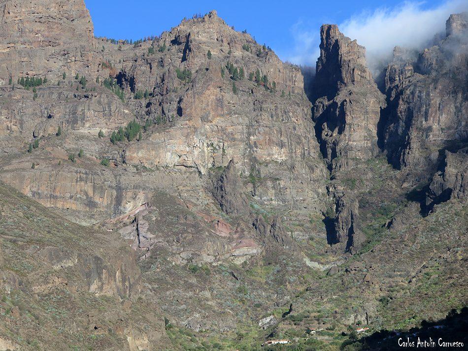 Cañadón Sombrío y del Jierro - Ruta Bentejuí - Gran Canaria - La Culata - Riscos de Tirajana