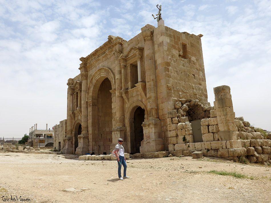 Jerash - Jordania - arco de adriano